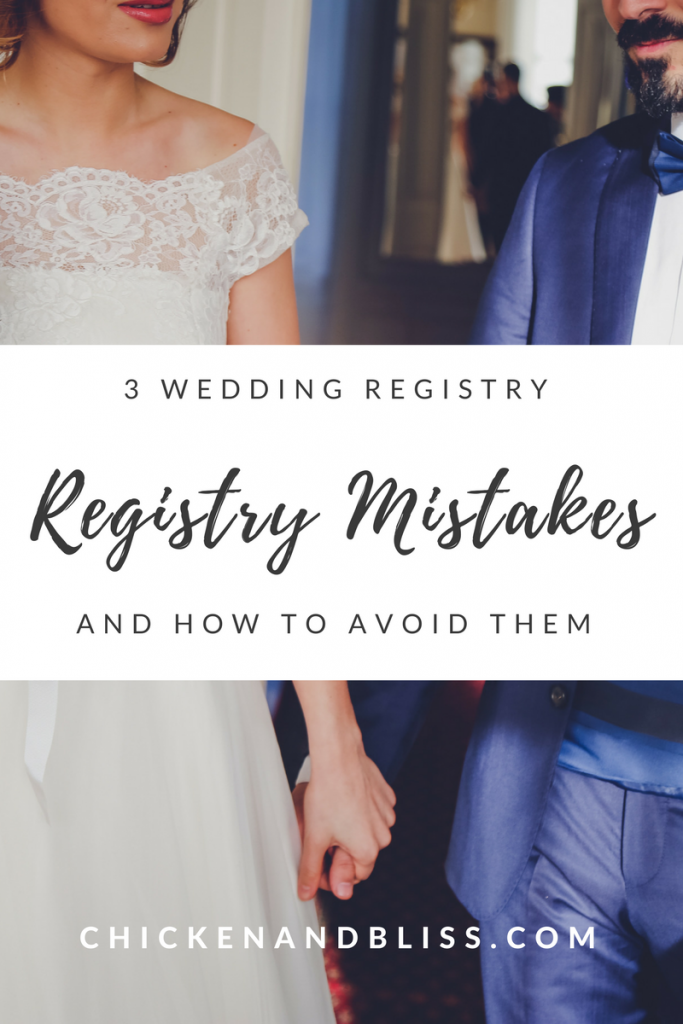 wedding registry mistakes