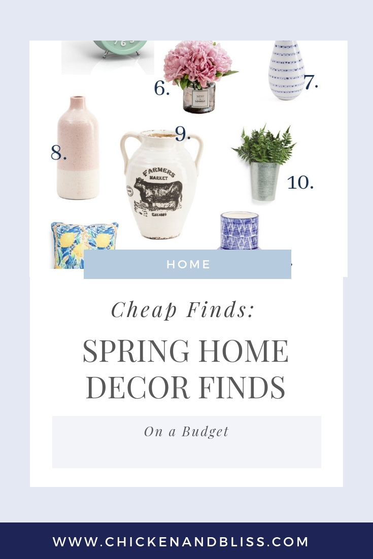 Spring Home Decor Finds for Decor on a Budget