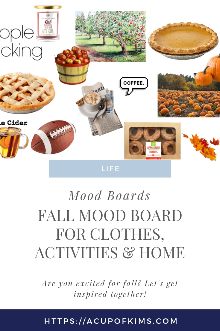 Fall Mood Board for Clothing, Decor, & Activities