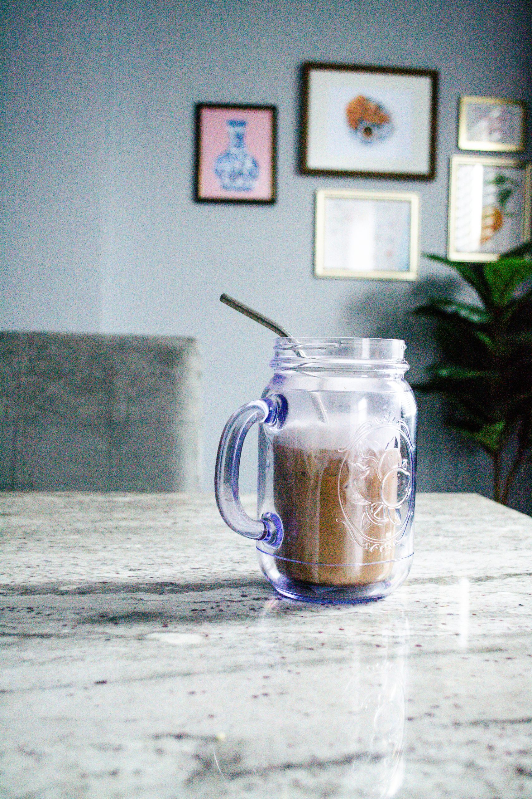 Coffee at Home: Reese Cup Inspired Iced Latte Recipe
