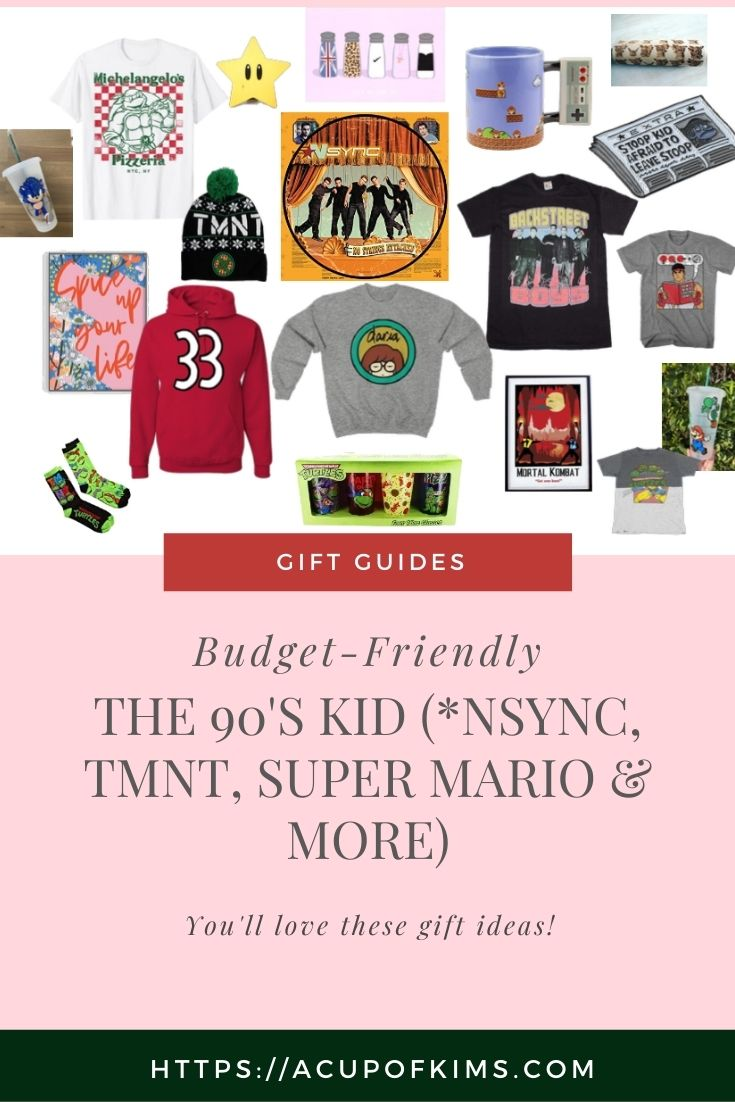 Gift Guide for The 90's Kid (*NSYNC, TMNT, Super Mario & More)